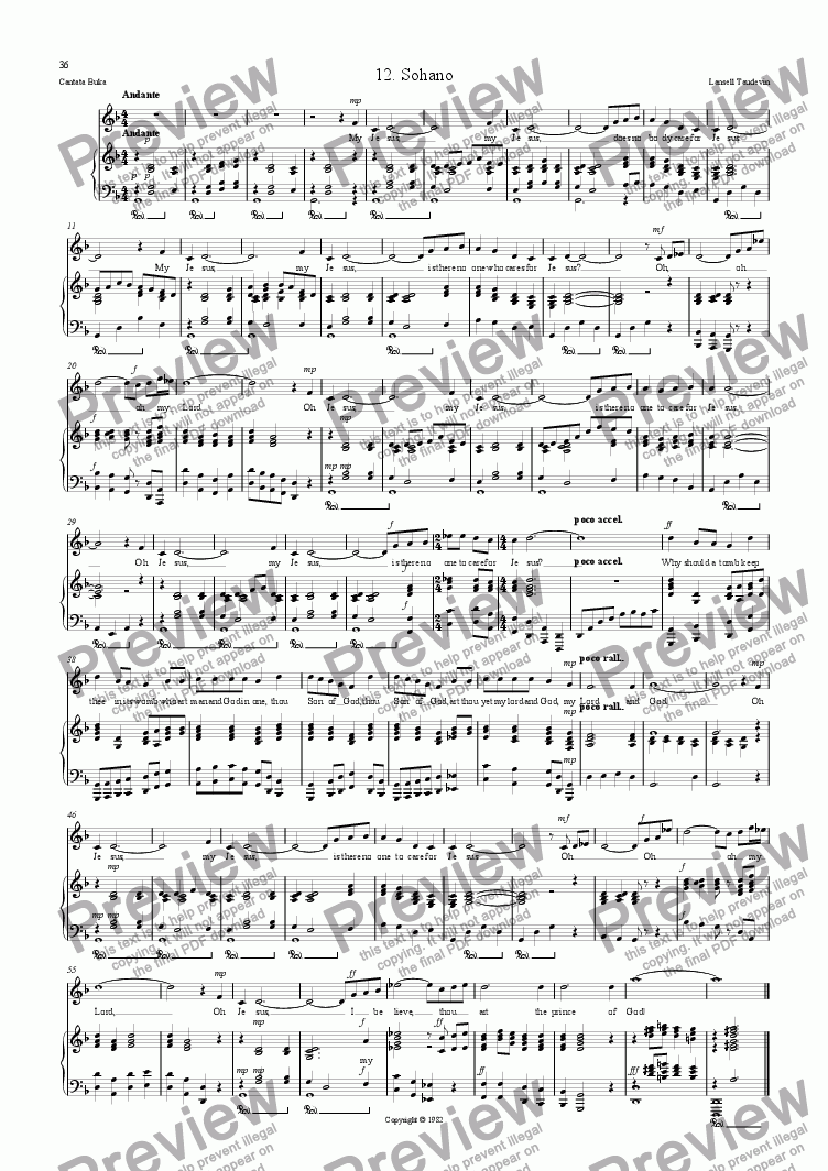 page one of Cantata Buka 12 Sohano
