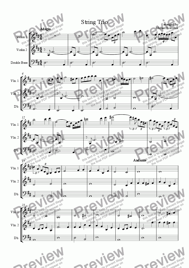 page one of String Trio for Christmas