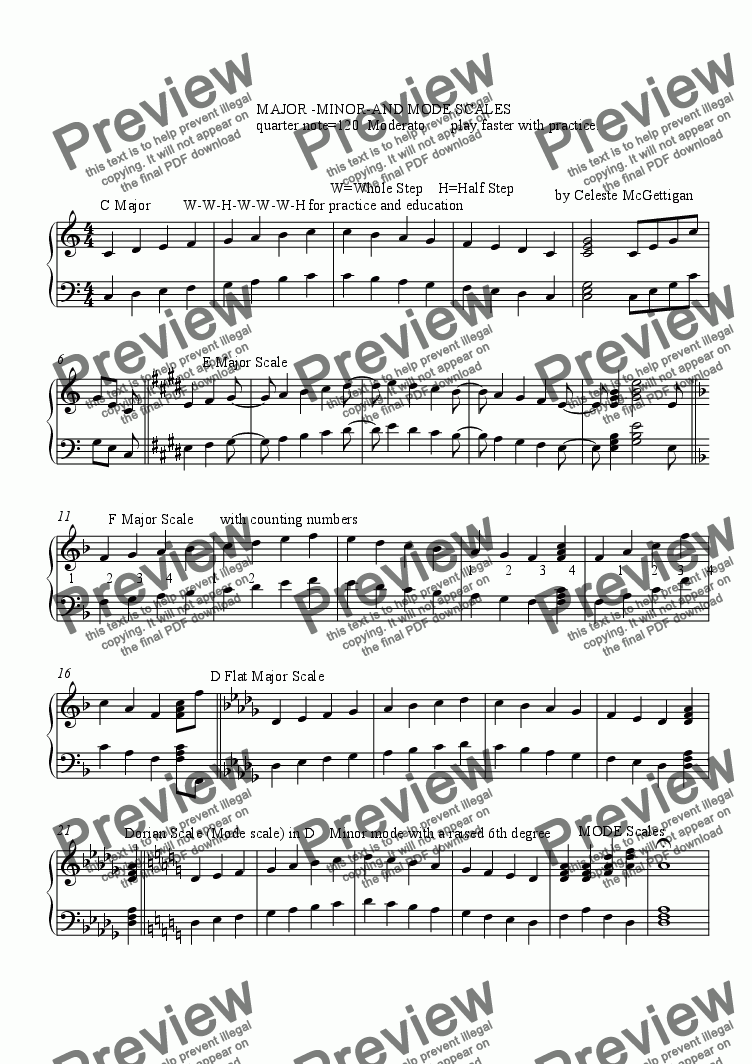 page one of Major-Minor-and Mode Scales