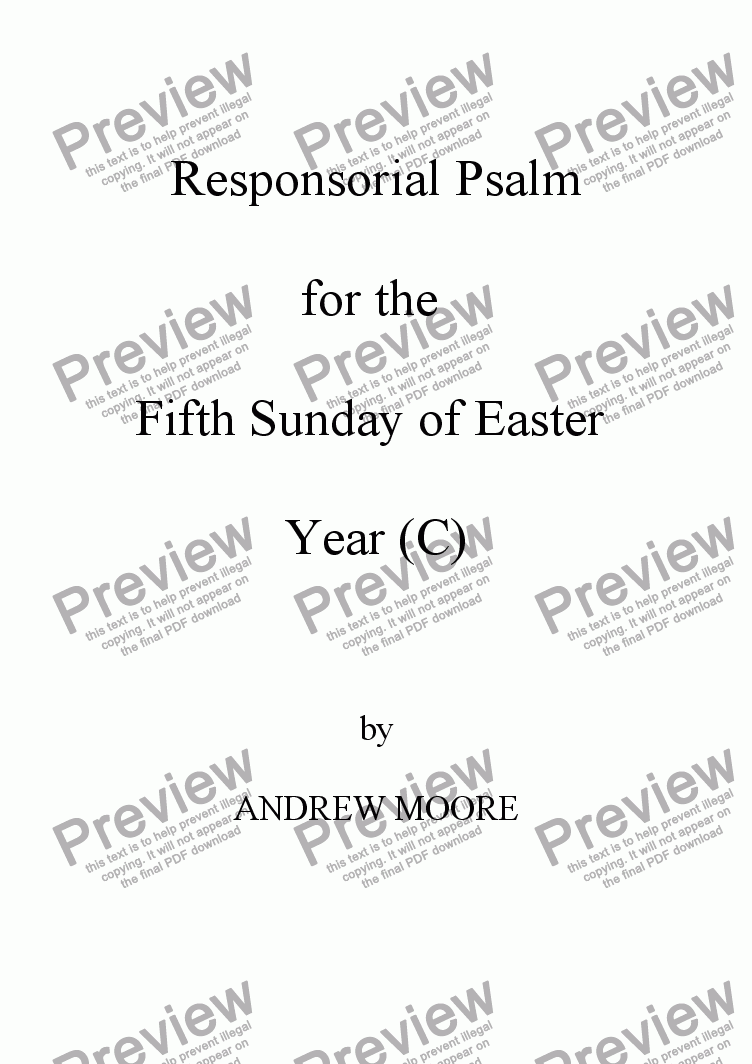 page one of Fifth Sunday of Easter (Year C)