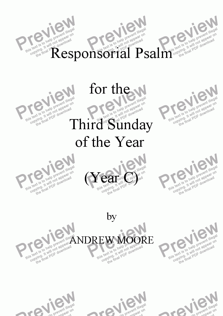 page one of Third Sunday of the Year (Year C)