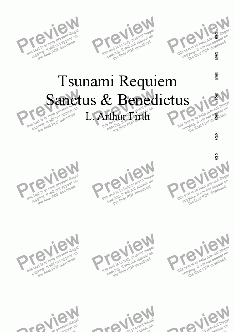 page one of A Tsunami Requiem Church version - 7,8 - Sanctus & Benedictus
