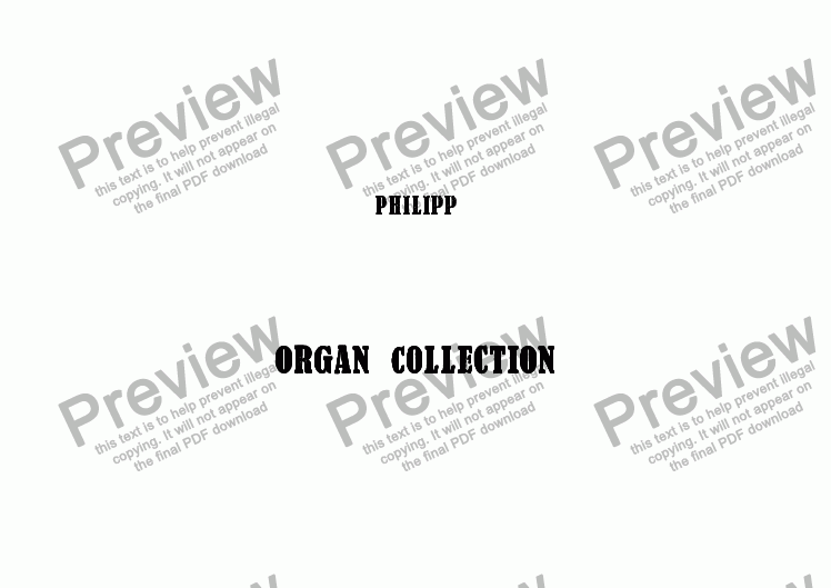 page one of Organ Collection