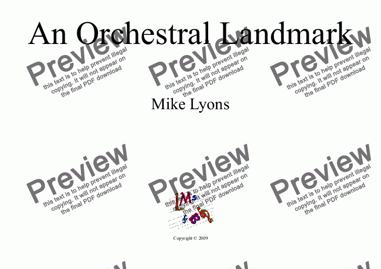 page one of Mixed Ensemble - An Orchestral Landmark