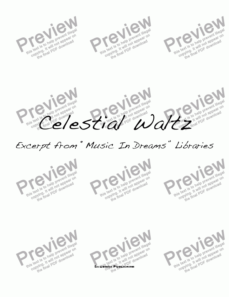 page one of Celestial Waltz