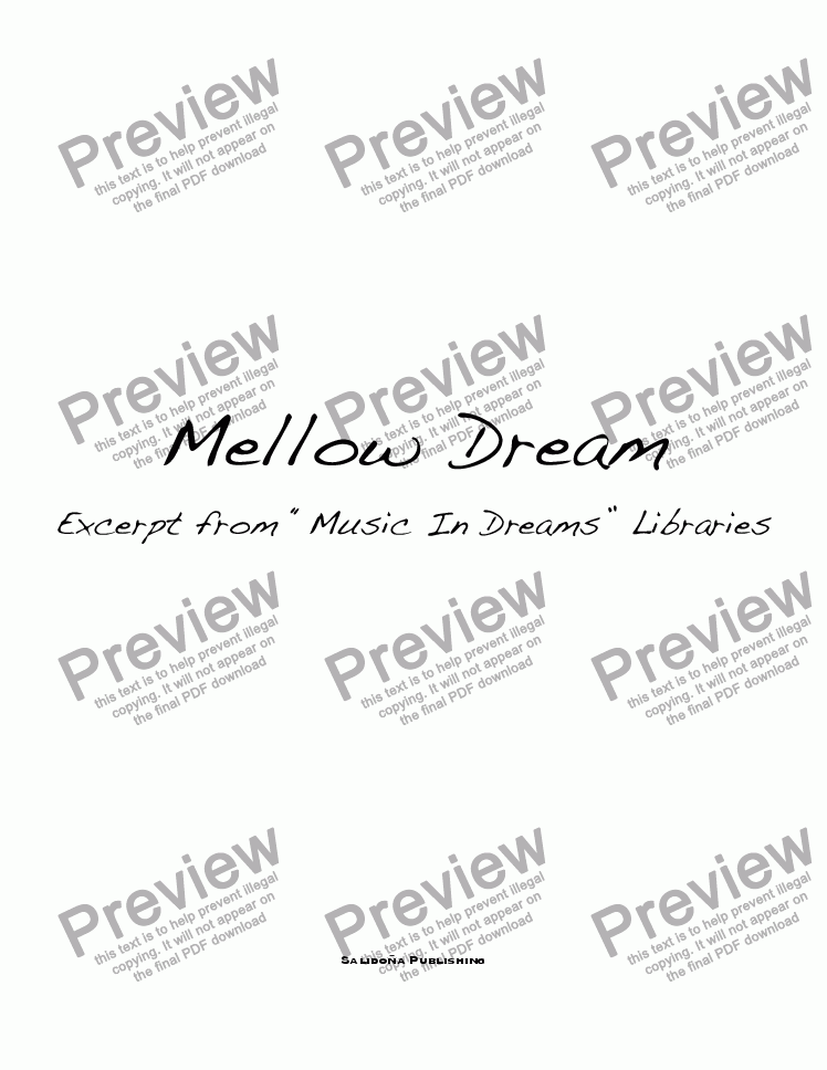 page one of Mellow Dream