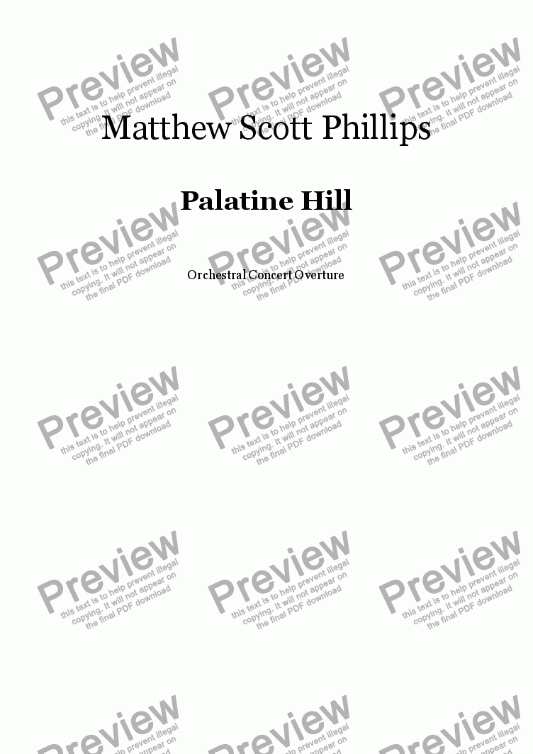 page one of Palatine Hill