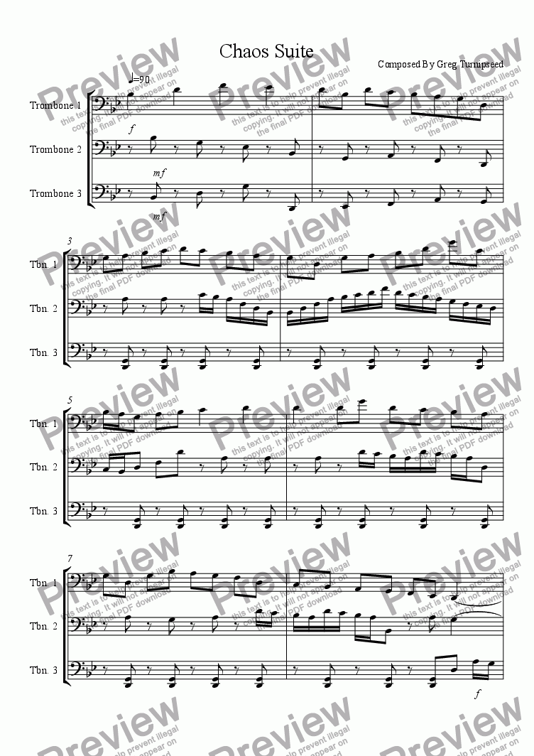 page one of Chaos Suite