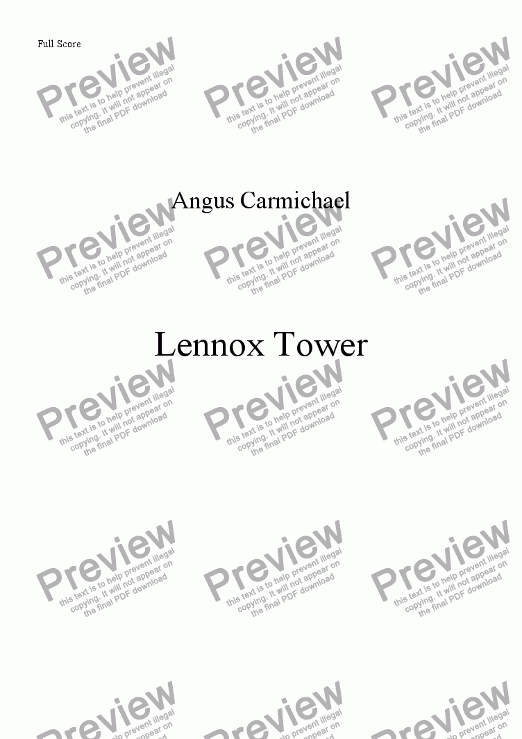 page one of Lennox Tower