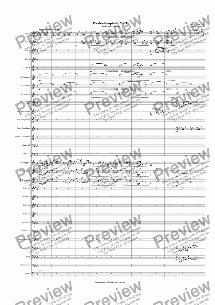 page one of Symphony No. 7--Finale