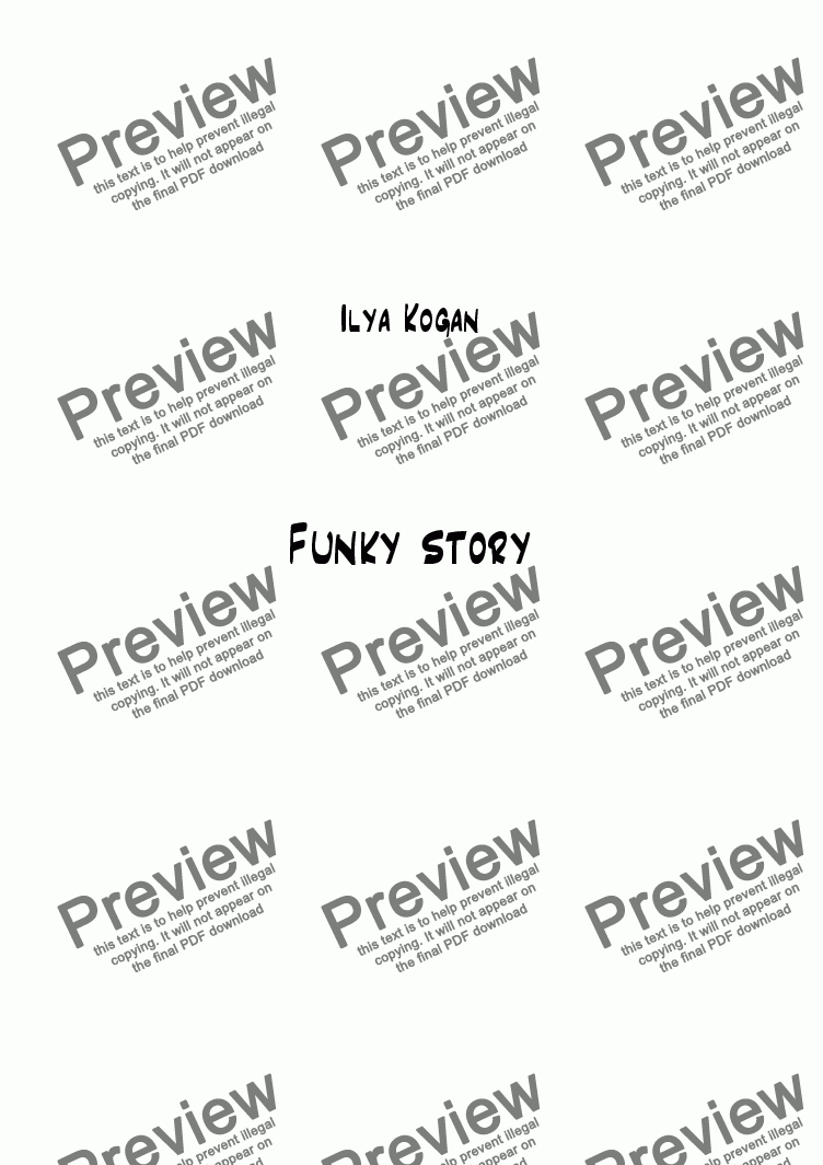 page one of Funky story