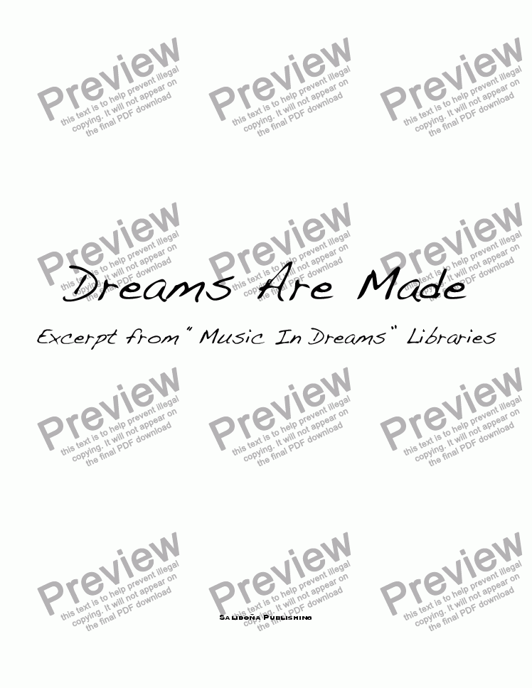 page one of Dreams Are Made