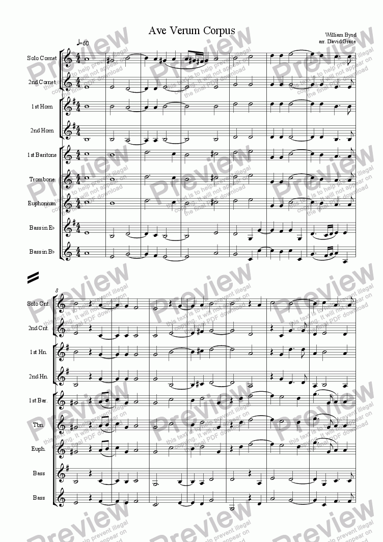 page one of Ave Verum Corpus [Byrd]