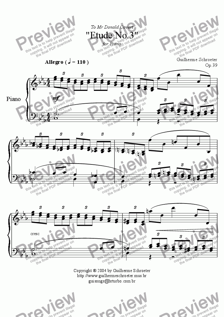 page one of Op.039 - Etude no.3 (C minor)