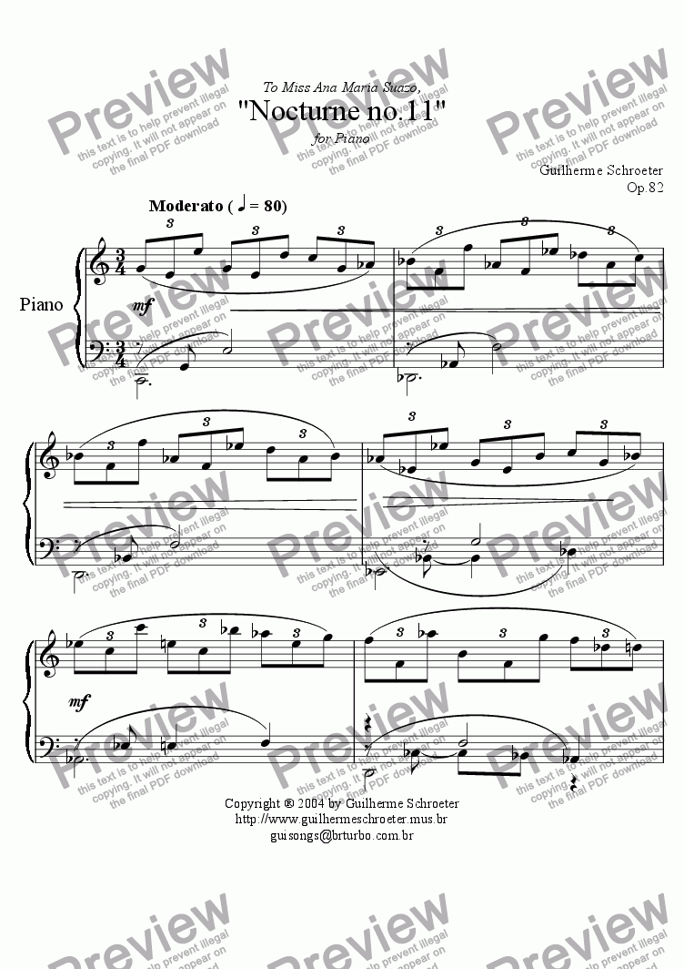 page one of Op.082 - Nocturne no.11 (C Major)ASALTTEXT