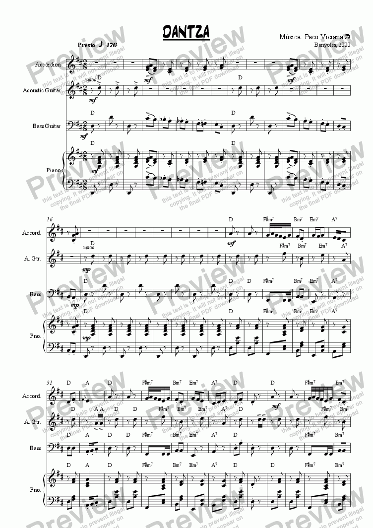page one of 095-Dantza (original version)