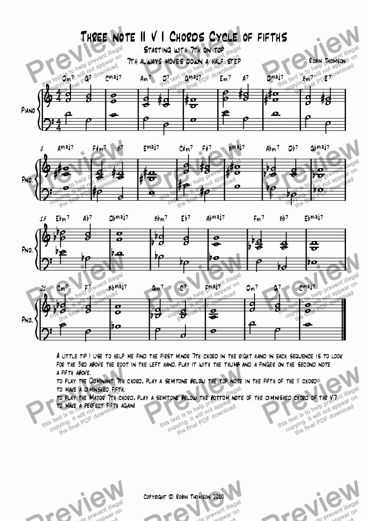 page one of 3 note chords 2