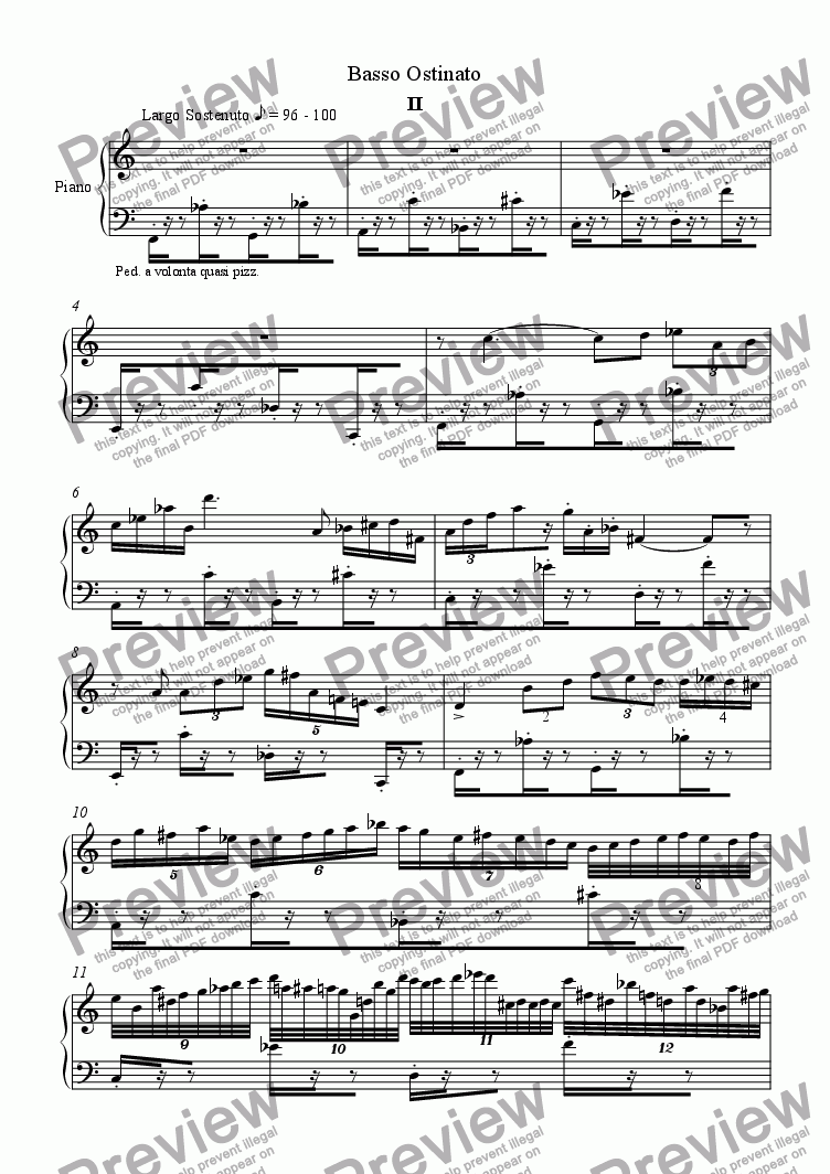 page one of Sonata No.5 for Piano (2nd & 3rd movt.)ASALTTEXT