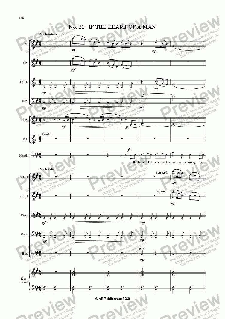 page one of Beggar's Opera - No. 21