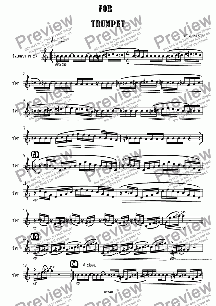 page one of JazzFlight Study No. 6 for Trumpet