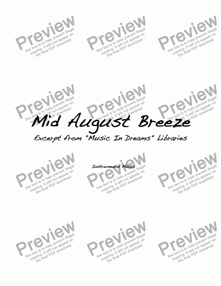 page one of Mid August Breeze