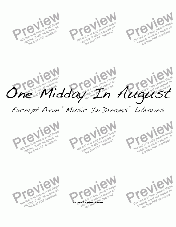 page one of One Midday In August