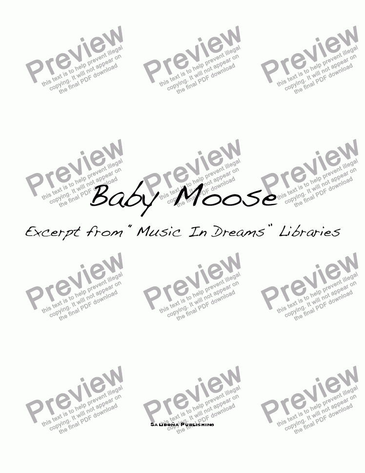 page one of Baby Moose