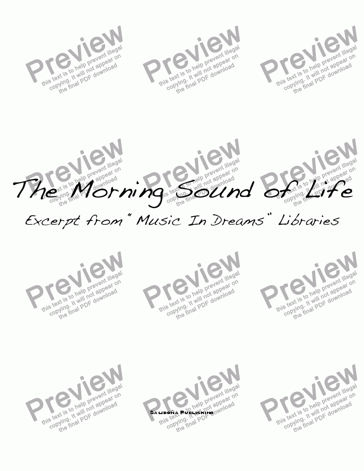 page one of The Morning Sound Of Life