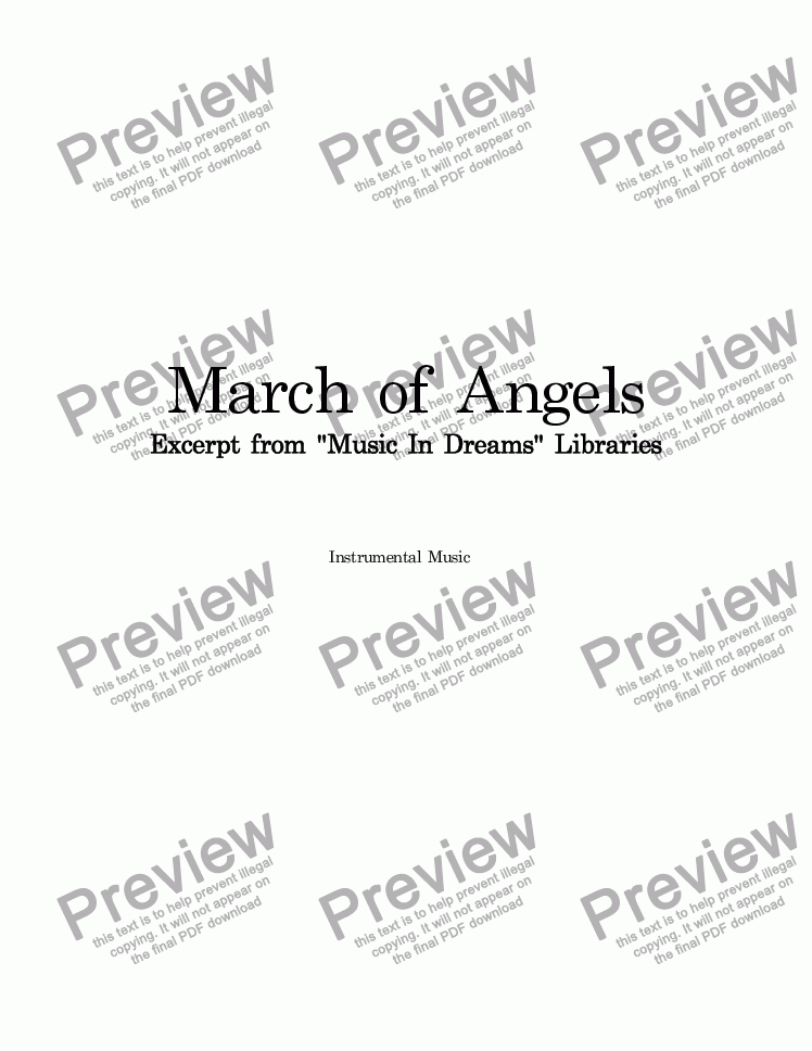 page one of March Of Angels