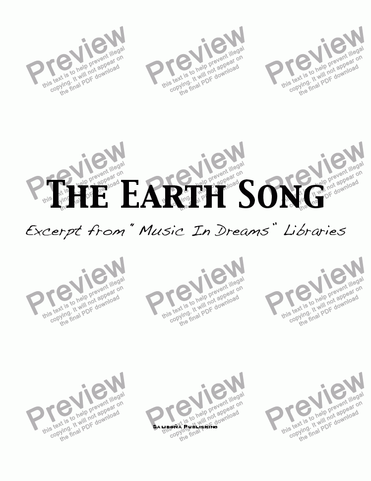 page one of The Earth Song
