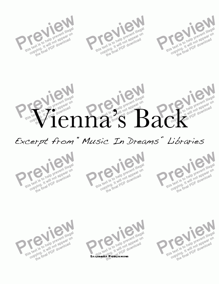 page one of Vienna's Back