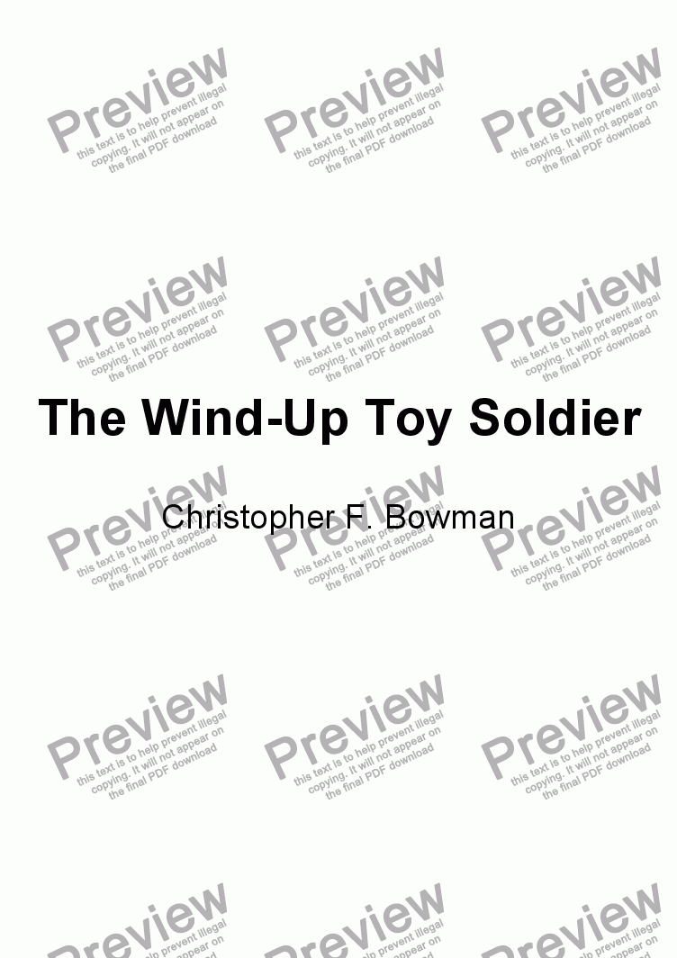 page one of The Wind-Up Toy Soldier