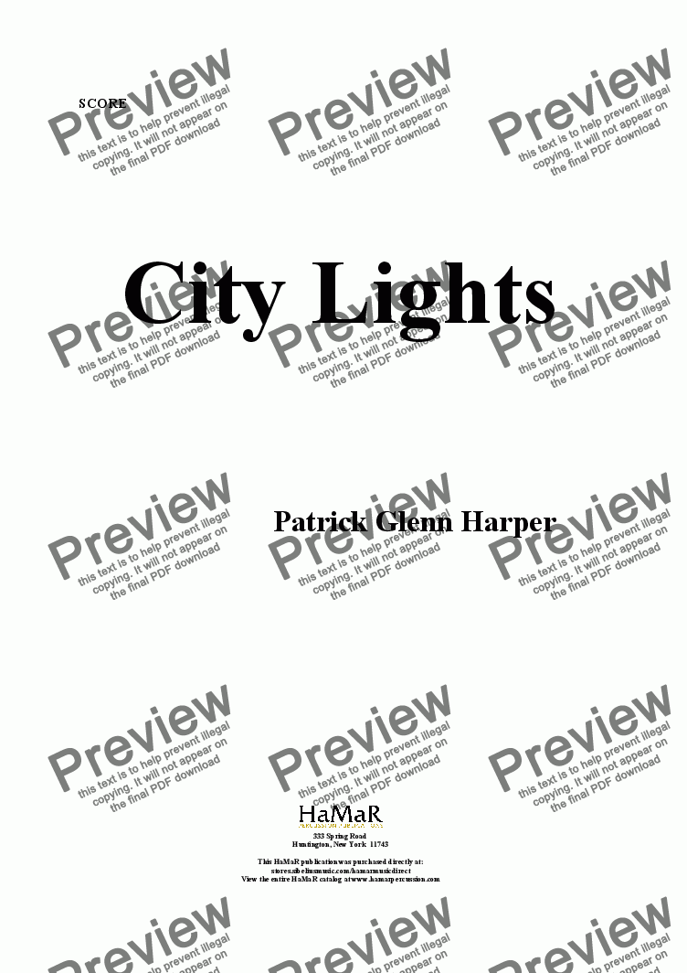 page one of City Lights