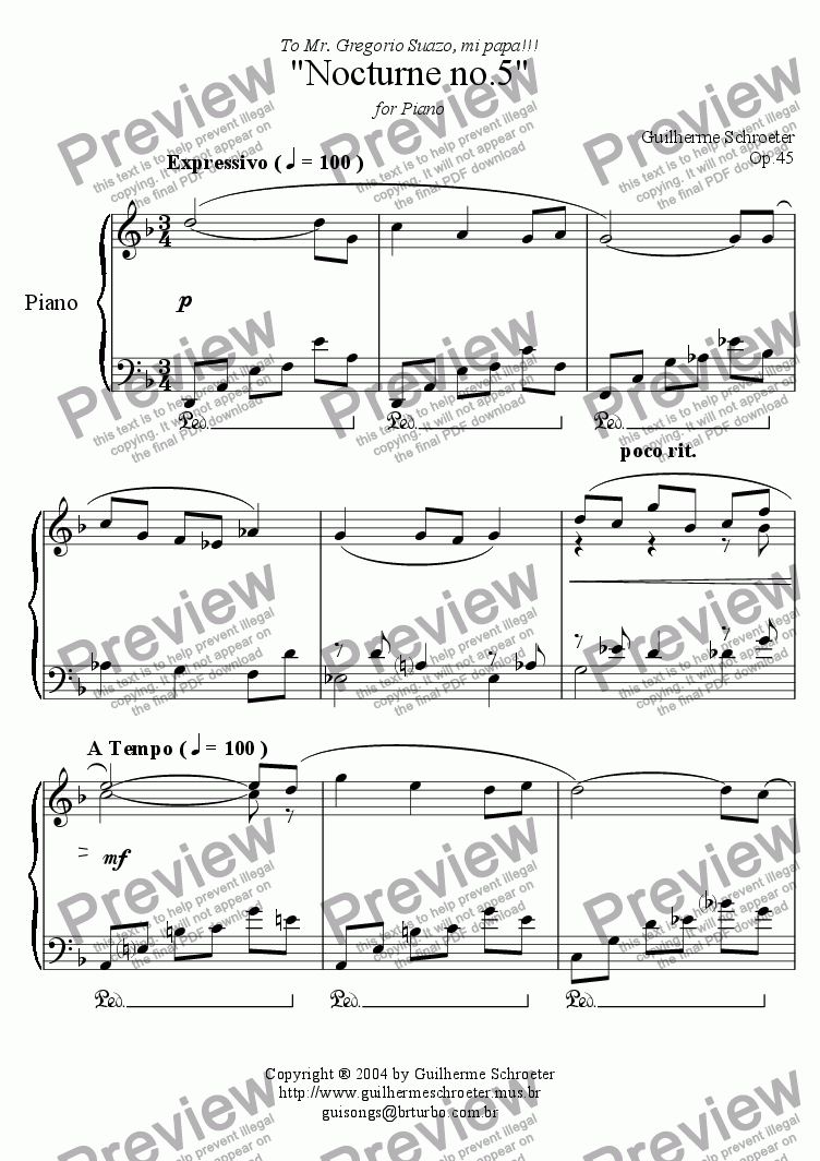page one of Op.045 - Nocturne no.05 (D minor)