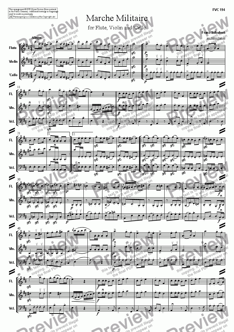 page one of Marche Militaire, Op.51 No.1ASALTTEXT