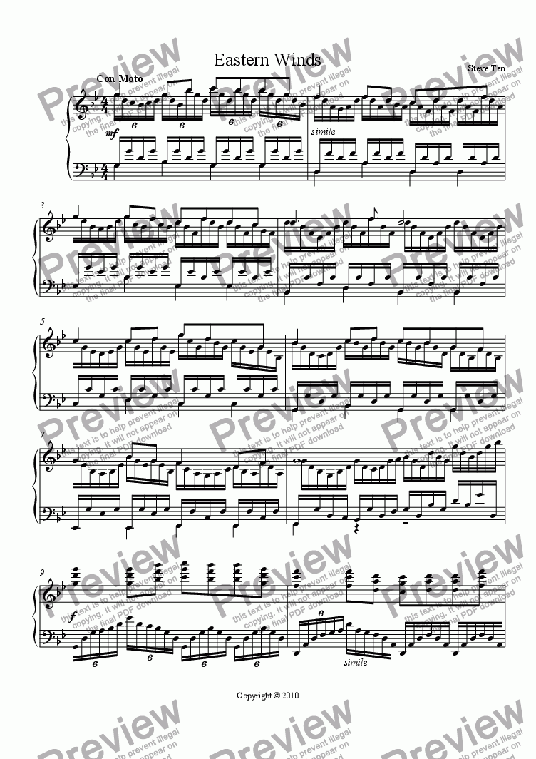 page one of Eastern Winds