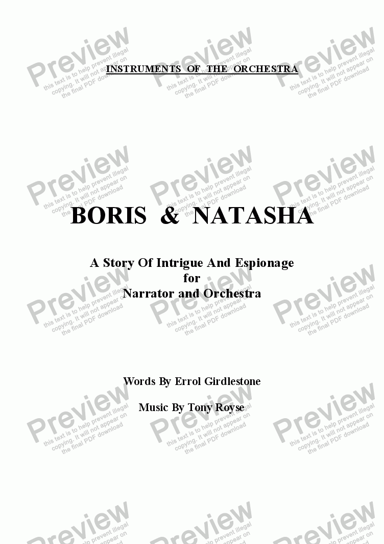 page one of Boris and Natasha (Instruments Of The Orchestra)