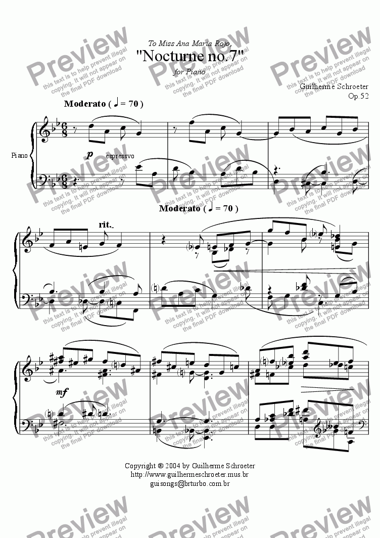 page one of Op.052 - Nocturne no.07 (G minor)