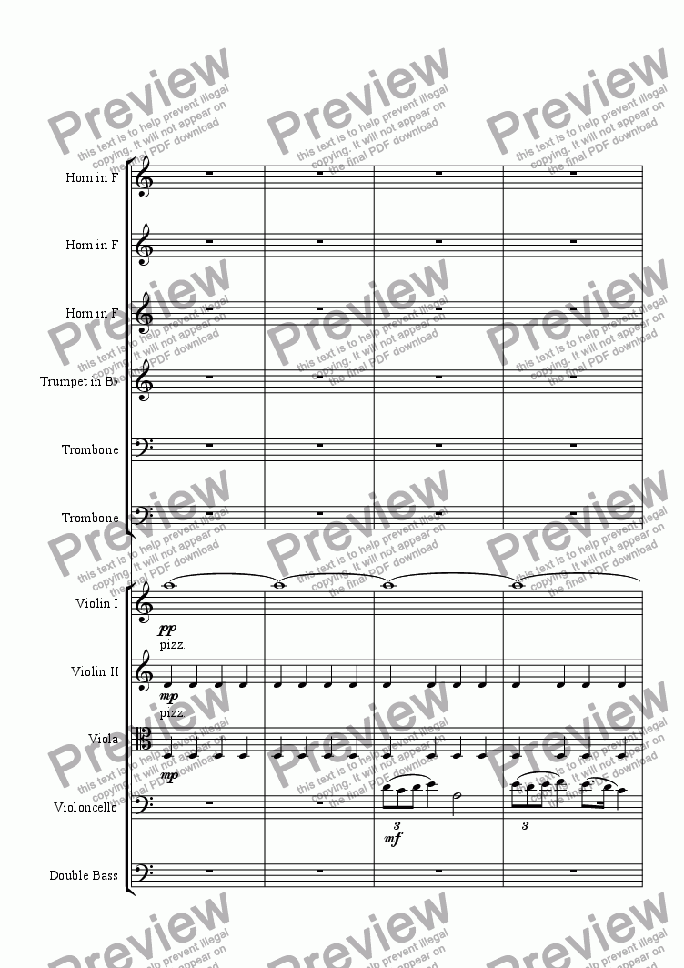 page one of Horn and Bass in A minor