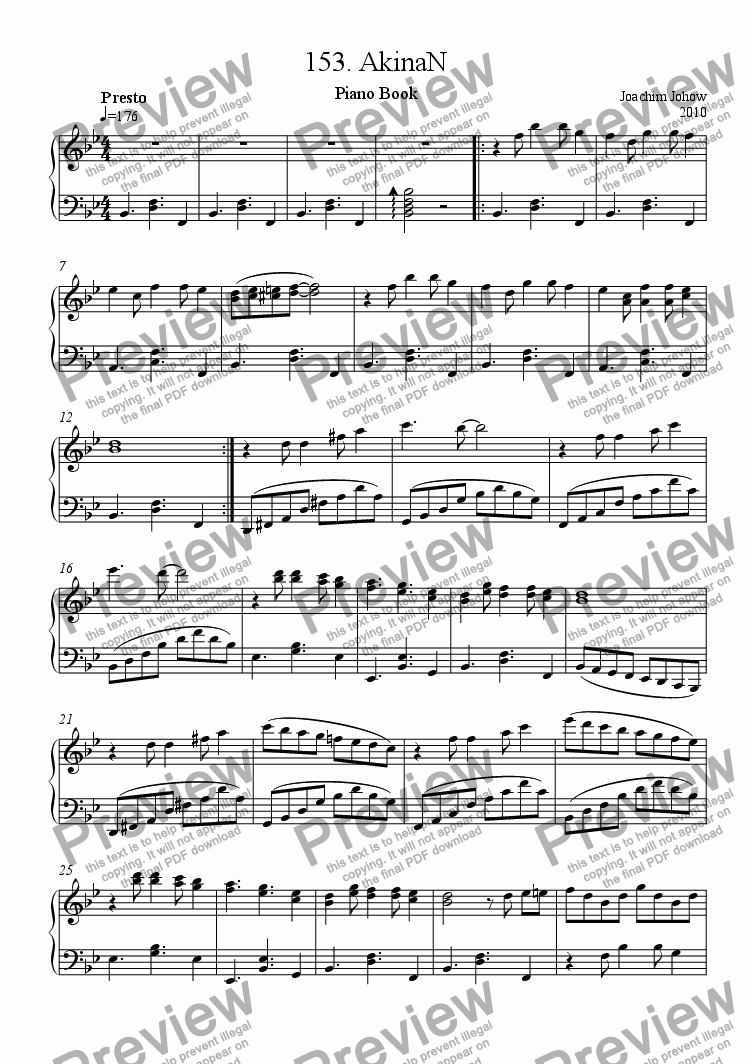 page one of Piano Book 153 (AkinaN)