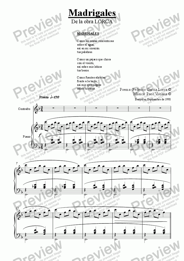 page one of 084-Lorca (Madrigales) Contralto-Piano (spanish)