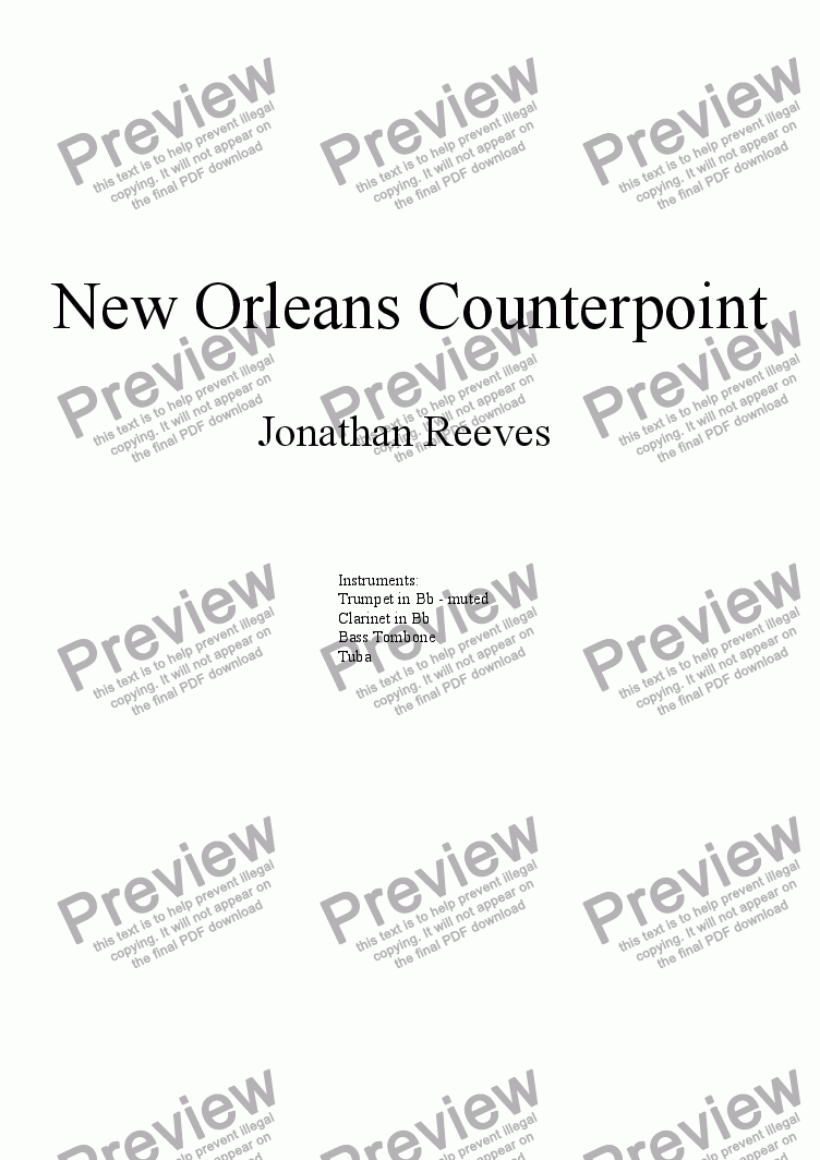 page one of New Orleans Counterpoint