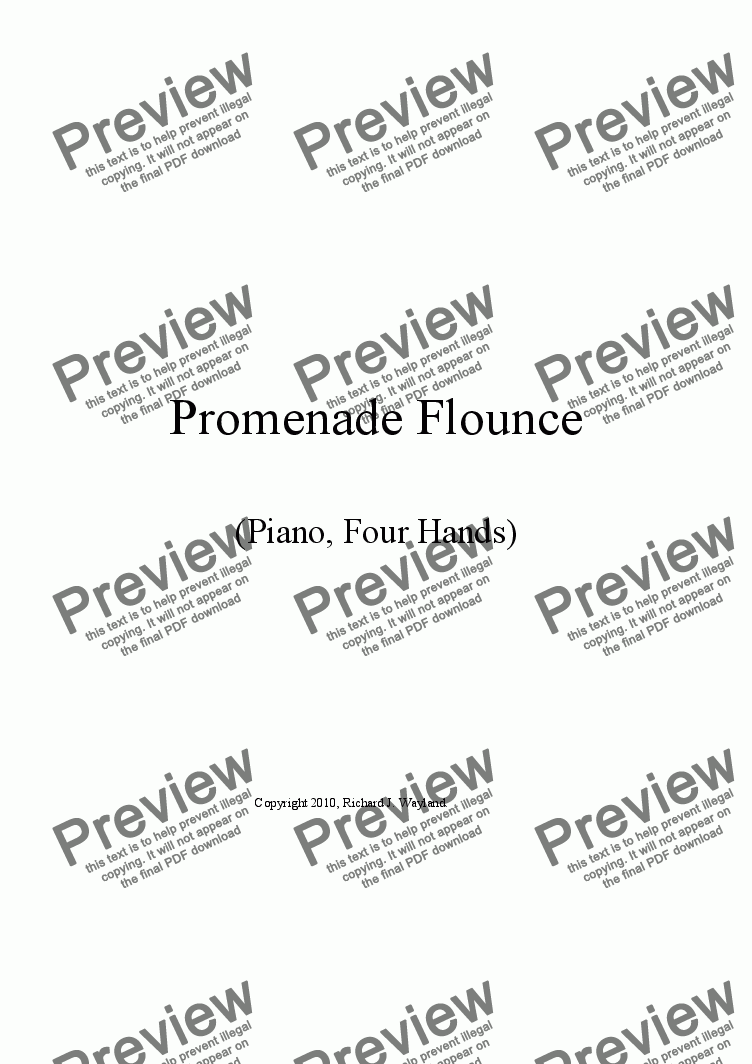 page one of Promenade Flounce (Duet)