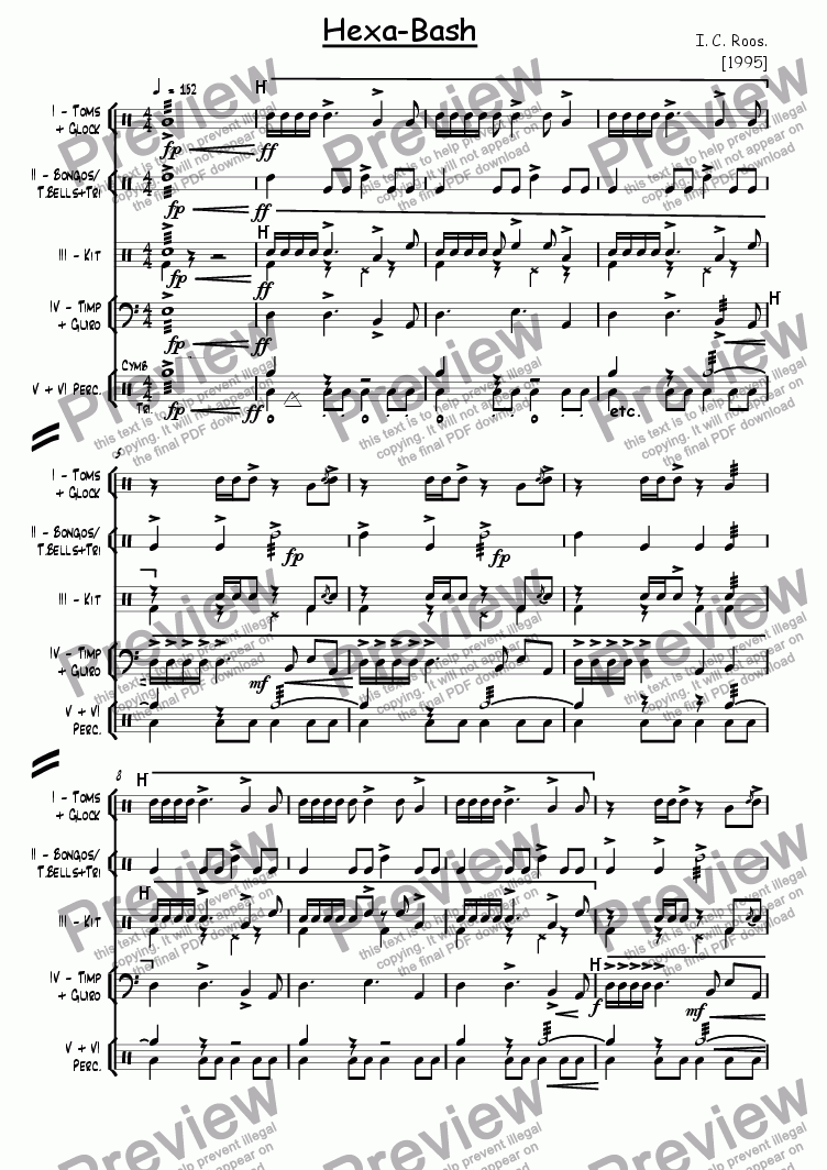 page one of Hexabash
