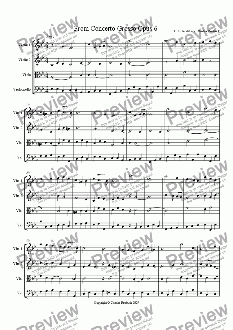 page one of From Concerto Grosso (String version)