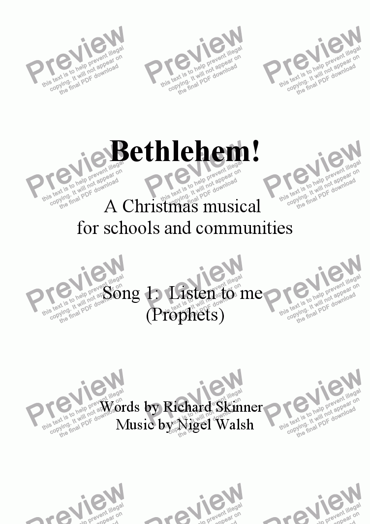 page one of Bethlehem! - 01 - Listen to me