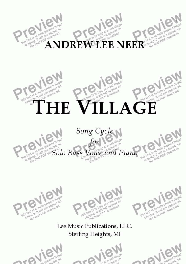 page one of The Village