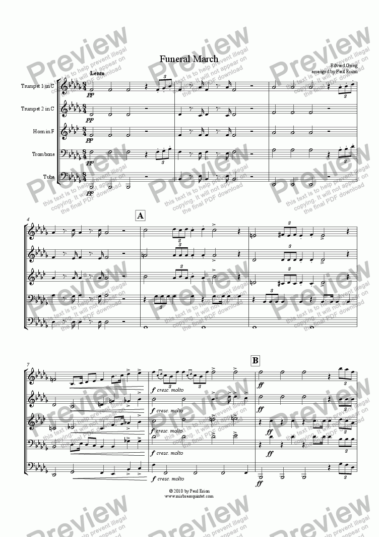 Chopin funeral march sheet music for violin and piano [pdf].