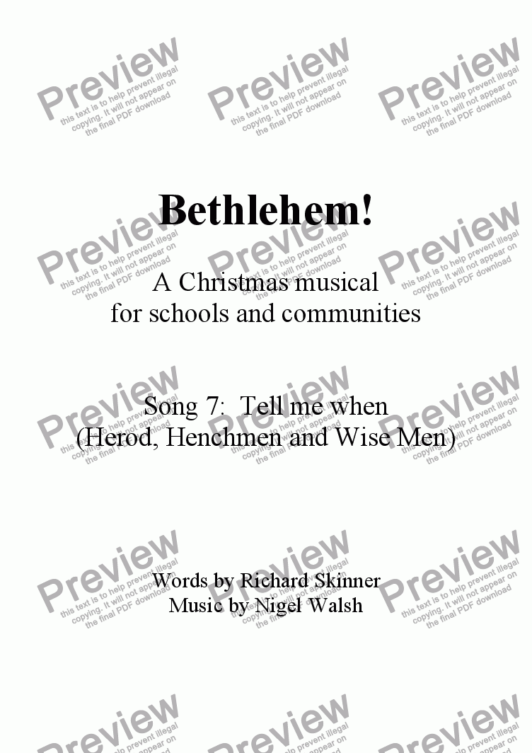 page one of Bethlehem! - 07 - Tell me when