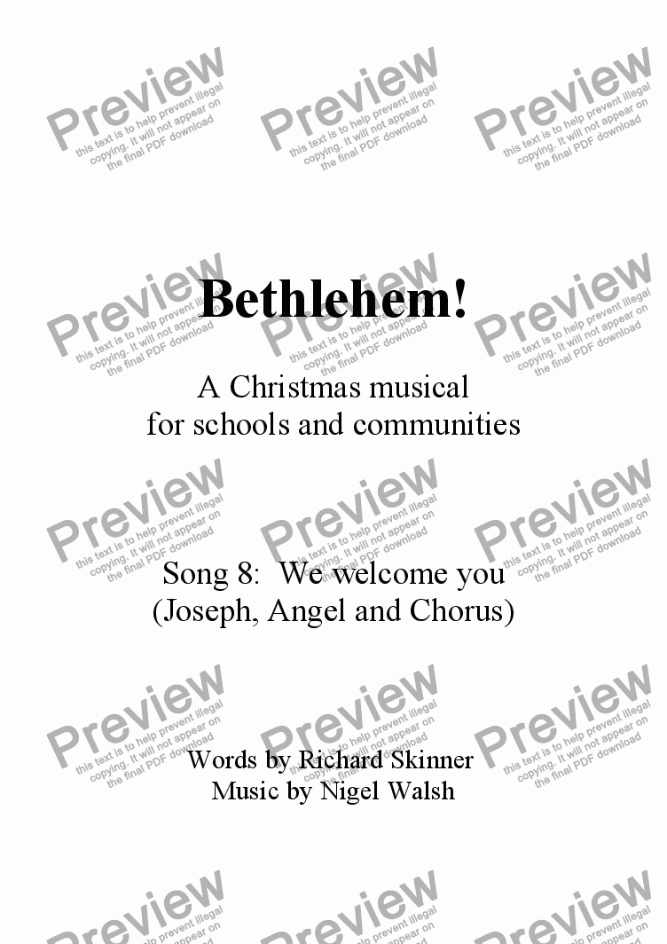 page one of Bethlehem! - 08 - We welcome you